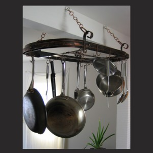 Copper Pot Rack