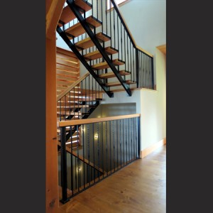 Steel Stringers and Iron Railings