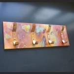 Copper Coat Rack