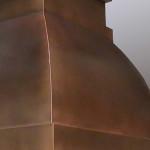 Copper Island Stove Hood Detail