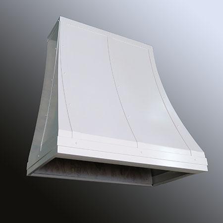 Charleston White Range Hood Metal Design VT
