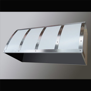White Range Hood with Stainless Steel